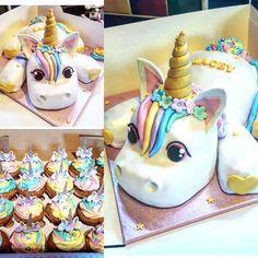 21 Ideas Cupcakes Versieren Unicorn For 2019 Unicorne Cake, Cake Cookies, Cupcake Cakes, Unicorn Birthday Parties, Unicorn Party, Girly Birthday Cakes, Girly Cakes, Lemon And Coconut Cake, Unicorn Foods