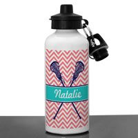A great aluminum water bottle designed for lacrosse players. Includes both a screw off lid and a flip top lid. Also includes a carabiner with a key ring to attach to a sport bag.