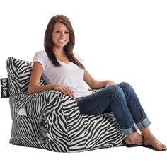Comfort Research Big Joe Dorm Bean Bag Chair - Zebra