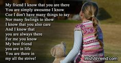 Short Friendship Poems - Page 2 Short Friendship Poems, Social Networks, I Know, You And I, First Love, Best Friends, I Am Awesome, Feelings, Sayings