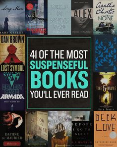 41 Of The Most Suspenseful Books You'll Ever Read 41 Super Suspenseful Novels You Won't Be Able To Put Down Books And Tea, I Love Books, My Books, Great Books To Read, Free Books, Good Books To Read, Best Books Of All Time, Novels To Read, Book Suggestions