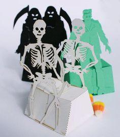 Skeleton, Frankenstein or Grim Reaper Favor Box