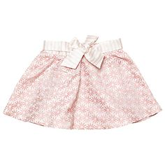 Margherita Kids Baby Jacquard Daisy Skirt, Pink Icing #margheritakids #fw16 #backtoschool