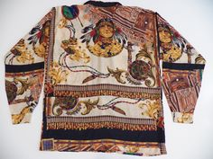 Think I may have a thing for bold prints. And Native Americans.    native american indian xxl 2xl mens print shirt by style1000