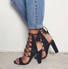 Laceup details✨Shop our JACEY heels now at billini.com & @hazardclothing #instashop