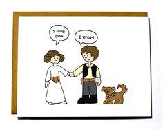 Star Wars I love you card. Valentine card por DarkroomandDearly
