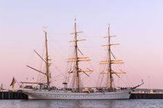 #coast #germany #gorch fock #harbor #masts #nautical #navy #port #sail #sailing vessel #sea #ship #water #watercraft