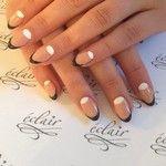 Moon manicure #eclair  #nude  #nailart  #nails  #nailporn  #nailswag