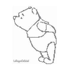 Cross stitch pattern Winnie the Pooh little by LeRayonDeSoleil