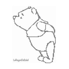 Cross stitch pattern Winnie the Pooh little door LeRayonDeSoleil