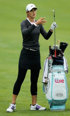 Michelle Wie Photos Photos: Wegmans LPGA Championship: Round 1 women golf Wie (This is an affiliate link) Take a look at this great product. Michelle Wie, Girls Golf, Ladies Golf, Golf Outfits Ladies, Golfing Outfits, Golf Now, Cute Golf Outfit, Golf Cart Accessories, Golfer