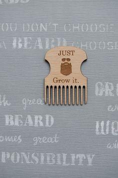 Groomsmen gift Grow Beard Wood Comb stylish men gift Lumberjack style, gift for dad moustache beard comb
