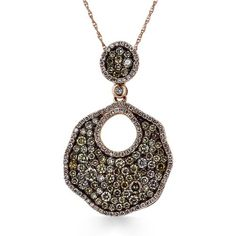 Shop online Arthurs Collection PDR-13406 Rose Gold DIAMOND Necklaces  at Arthur's Jewelers. Free Shipping