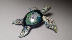Giant Sea Turtle with Multi colored Turtle Shell for by Glassnfire