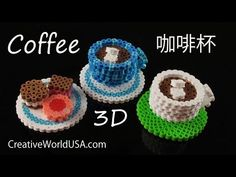Hama/Perler Beads Coffee/Tea Cup 3D【拼豆立體】 咖啡杯/茶杯 - 創意世界 Creative World