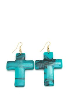 stone cross earrings Cross Earrings, Stone Jewelry, Ear Piercings, My Style, Fashion, Moda, Fashion Styles, Earrings, Fashion Illustrations