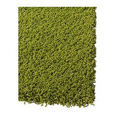 Hampen rug high pile bright green for Ikea grass rug