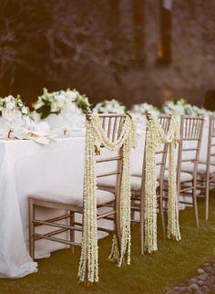 [ Dekor Wedding Style Chair Garlands Weddbook 5 ] - Best Free Home Design Idea & Inspiration Wedding Chair Decorations, Wedding Chairs, Wedding Themes, Wedding Table, Wedding Events, Wedding Styles, Wedding Garlands, Wedding Photos, Flower Garlands