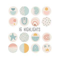 Instagram highlight cover boho social media icons. Pastel retro geometric abstract circles. Pimp up Pastel Highlights, Story Highlights, Canva Instagram, Cupcake Logo, Retro, Custom Icons, Social Media Icons, Instagram Highlight Icons, Instagram Story Ideas