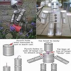 Images Aluminum Can Crafts, Tin Can Crafts, Metal Crafts, Plastik Recycling, Carillons Diy, Tin Can Man, Tin Can Flowers, Recycle Cans, Repurpose