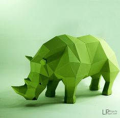 Rhino model, Rhino Sculpture , Animal paper, Rhinoceros paper ,Rhino low poly…