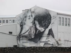STUNNING mural in Reykjavik, Iceland. Its so huge it has an amazing impact when you first see it. #art #mural #iceland http://www.leonamatuszak.com
