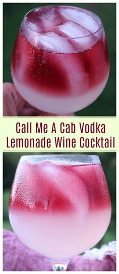 Call Me A Cab Vodka Lemonade Wine Cocktail Wine Cocktails are refreshing and oh so delicious if mixed right. This Call Me A Cab Vodka Lemonade Wine Cocktail is the perfect blend of sweet, dry, and summer! Cocktails Vin, Cocktail Drinks, Lemonade Cocktail, Vodka Lemonade Drinks, Popular Cocktails, Cocktails With Wine, Alcoholic Drinks Recipes With Vodka, Flavored Vodka Drinks, Vodka Based Cocktails
