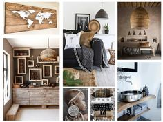 This inspiration board was created with thoughts of travel and exploration.  Ethnic interior