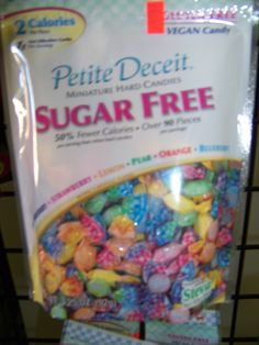 Sugar free diabetic candy, made with Stevia.