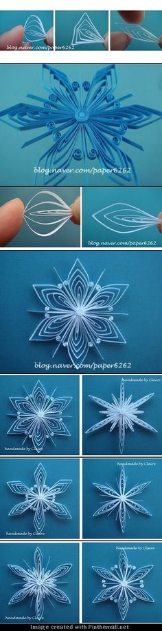 (Part 2 of 2) http://clairespapercraft.blogspot.com/2010/11/how-to-make-snowflake-tutorial.html: