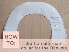 How to draft an alternate collar. This site has tons of pattern-making tutorials & Printable Shop.