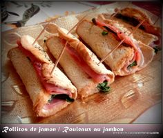 Entra en mi Cocina: Rollitos de jamon y Philadelphia/rouleaux jambon-philadelphia