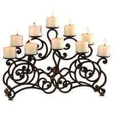 Picture of Ambella Home - Marie Medium Fireplace Candelabra Fireplace Candelabra, Fireplace Console, Media Fireplace, Concrete Fireplace, Faux Fireplace, Conservatory Dining Room, Goth Home Decor, Candle In The Wind, Diy Candle Holders