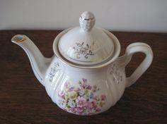 Enesco Teapot Enesco Floral Teapot Vintage Teapot by PhotosPast, $15.00