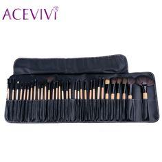 32 PCS Pincel de Maquiagem Profissional Conjunto de Cosméticos Premium Full Função de Mistura Em Pó Fundação Escova Ferramentas de Melhor Qualidade