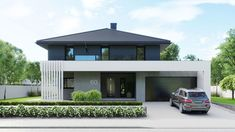 Find home projects from professionals for ideas & inspiration. Projekt domu HomeKONCEPT 60 by HomeKONCEPT House Front Design, Modern House Design, Home Design, Modern Japanese Architecture, Futuristic Architecture, House Architecture, Home Building Design, Modern Farmhouse Exterior, Dream House Exterior
