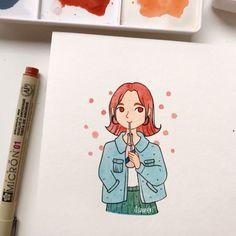 No hay ninguna descripción de la foto disponible. Girl Drawing Sketches, Cute Sketches, Girly Drawings, Pencil Art Drawings, Drawings Pinterest, Arte Sketchbook, Cartoon Art Styles, Art Inspiration Drawing, Happy Paintings