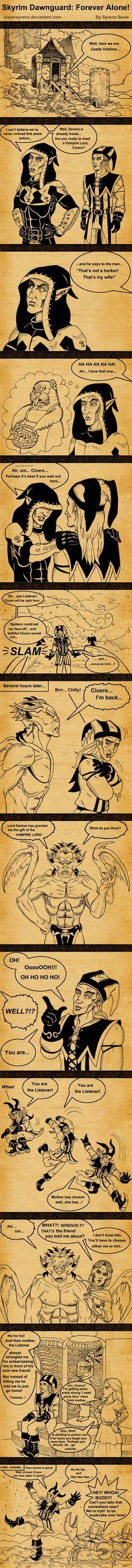 Skyrim Dawnguard: Forever Alone! by SlayerSyrena.deviantart.com on @deviantART
