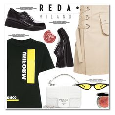 """""""Reda Milano Fashionable Woman's Shoes"""" by paculi ❤ liked on Polyvore featuring Sacai, Prada and Chantecaille"""