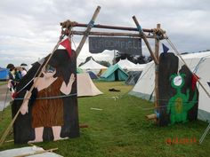 Camp gateway, Stone age sub camp, Norjam 2014