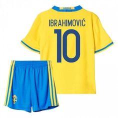 Sverige Trøje Børn 2016 #Ibrahimovic 10 Hjemmebanesæt Kort ærmer.199,62KR.shirtshopservice@gmail.com