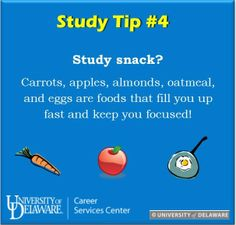 Study focused foods and snacks! Don't forget to pack a quick bite before hitting the books! #UDreamItDoIt