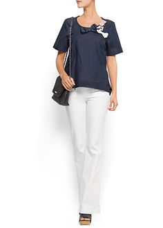 MANGO - CLOTHING - Bow t-shirt