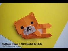 Origami Rilakkuma tutorial 鬆弛熊摺紙教學 ( Kade Chan )