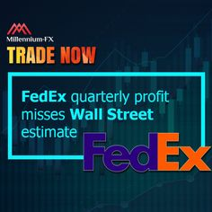 FedEx quarterly profit misses Wall Street estimate. Package Delivery, Financial News, Wall Street, Memphis, Flexibility, Investing, Neon Signs, Back Walkover