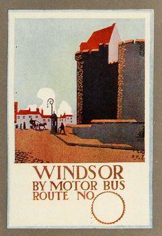 Windsor Motor Bus travel poster. Love the design.