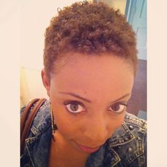 TWA (Teeny Weeny Afro) short natural hair for black women. Description from pinterest.com. I searched for this on bing.com/images