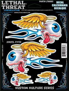 "Angel eyes - 6"" by 8""  - LT90503  Lethal threat Decal"