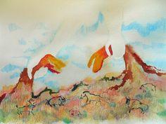 Genesis 1: 20-24  Mixed media on watercolor paper