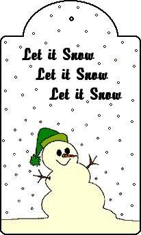 Free Printable Snowman Design Christmas Tag
